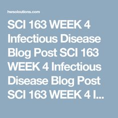 SCI 163 WEEK 4 Infectious Disease Blog Post SCI 163 WEEK 4 Infectious Disease Blog Post SCI 163 WEEK 4 Infectious Disease Blog Post SCI 163 WEEK 4 Infectious Disease Blog PostChoose an infectious disease that is currently a human health risk.  Research your topic using online sources such as the NIH, CDC, and WHO.  Write a 350- to 525-word blog entry on the disease. You are getting the word out to your chosen audience. Answer the following questions:  Describe the cause and symptoms of…
