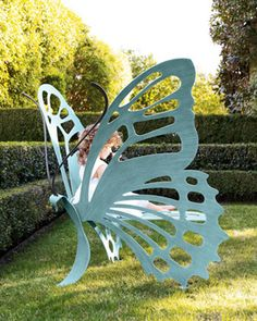 Butterfly chair in the garden :)