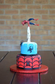 Spiderman cake www.facebook.com/bespokecakesbylina - Visit to grab an amazing super hero shirt now on sale!