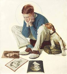 Norman Rockwell: Starstruck, Vintage Old Art Print # 255 Norman Rockwell Prints, Norman Rockwell Paintings, Peintures Norman Rockwell, Retro, Old Art, American Artists, Vintage Art, Illustrators, Pin Up