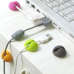 2Pcs Mini Self-Adhesive Cable Clip Desk Organizer USB Charger Wire Cord Fixer