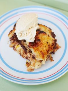 Check out Jamie's twist on the classic bread and butter pudding recipe, our baileys soaked banana and bread pudding is the epitome of indulgence.