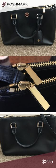 Tory Burch double zip purse Extremely cute, comes with the long strap, it's the large size and it's been great condition. I use pictures from other users because my purse is in storage, if these your pictures I'm really sorry and if you don't feel comfortable I will take them down, thank you so much Tory Burch Bags Shoulder Bags