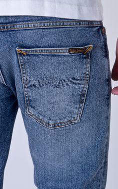 Indigo Strip 32//32 Carrot Shape NEU Nudie Jeans Lean Dean