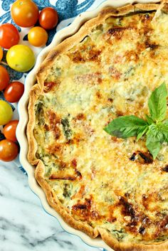 #easter brunch ideas? how about this Tuscan Kale & Sun-dried Tomato Quiche with Basil Honey Whipped Ricotta! so easy, delicious, and spring weather perfect :)