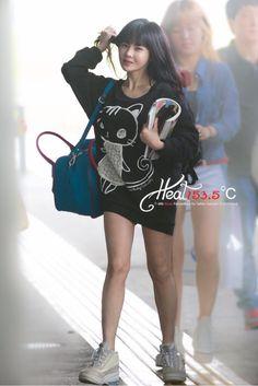 T-ARA Boram 130803 at Haneda Park Jiyeon, Kpop Fashion, Airport Fashion, Soyeon, Korean Actresses, Airport Style, David Beckham, Fashion Lookbook, Girl Crushes