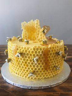 Really happy with this baby bumblebee cake I made for a friends baby shower. Pretty Cakes, Beautiful Cakes, Amazing Cakes, Crazy Cakes, Fancy Cakes, Bee Cakes, Cupcake Cakes, Cute Birthday Cakes, Cake Decorating Techniques