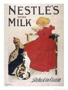 Nestle's Swiss Milk, Richest in Cream - Théophile Alexandre Steinlen
