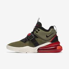 09753a62fb36 Nike Air Force 270 Medium Olive black challenge red white april 13 2018  release date info drop sneakers shoes footwear