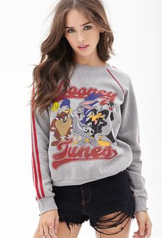 Looney Tunes Pullover Sweatshirt #F21StatementPiece Teen outfits cute clothes  Looney Toons