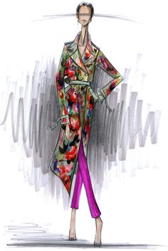 Rachel Roy sketch via twitpic Fashion Illustration Sketches, Illustration Mode, Fashion Sketches, Drawing Sketches, Croquis Fashion, Beautiful Sketches, Fashion Design Drawings, Fashion Figures, Inspiration Mode
