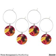 Flower Arrangement Wine Glass Charm
