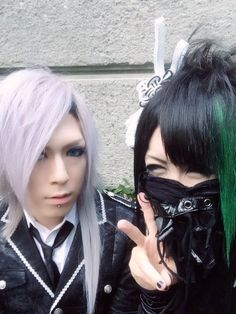 Kei from Diaura and Takemasa from Kiryu