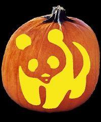 Panda Pumpkin Carving Pattern - Jack O Lantern Pumpking Carving, Halloween Pumpkin Carving Stencils, Pumpkin Carving Patterns, Pumpkin Stencil, Pumpkin Art, Pumpkin Crafts, Pumpkin Ideas, Holidays Halloween, Halloween Kids