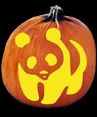 wwf panda pumpkin carving pattern punkin carvin pumpkin carving rh pinterest com