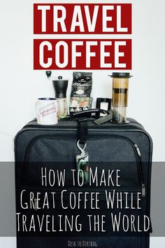 great coffee Don't settle for bad coffee just because you are traveling! Here is the best travel coffee maker, portable grinder, and hot water source for every traveler. Travel Info, Travel Advice, Travel Tips, Travel Hacks, Travel Ideas, Travel Inspiration, Travel Blog, Travel Stuff, Foodie Travel