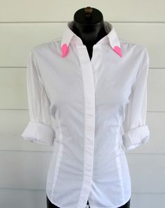 Wobisobi: Neon Pink, Collar Tips; DIY