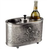 Found it at Wayfair - Antique Embossed Pewter Two Bottle Wine Chiller
