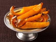 Butternut Squash Wedges with Maple Butter.
