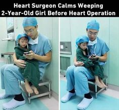Here's a doctor who deserves every sent of his earnings. So many US docs need to learn this. Kindness Pictures, Random Pictures, Moving Pictures, Funny Pictures, Dr Feelgood, Heart Melting, Good Deeds, Mi Crush, Gives Me Hope