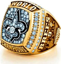 champ rings of the saints! come on steelers...u can do it too!