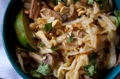 pad thai-cabbage replacing noodles
