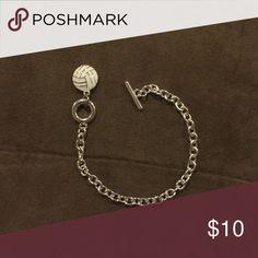 Cute silver volleyball chain bracelet Cute silver volleyball chain bracelet. Perfect condition. Jewelry Bracelets