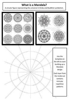 Mandala Style Color Wheel Worksheet Practice for Middle
