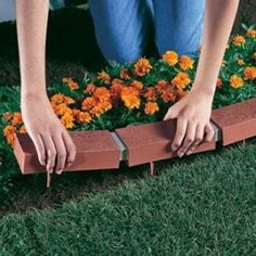 25 ft. Decorative Plastic Brick Edging, Red, As Shown