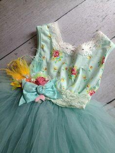Floral Tutu Dress - Cozette Couture