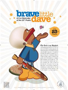 The 23rd Psalm Poster / Brave Little Dave, $15.00
