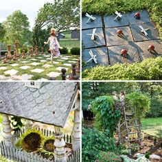 The Children's Garden at Silverbrook Farm in Purcellville, VA.  (a giant chess set, the children's nest and oversized outdoor tic-tac-toe board