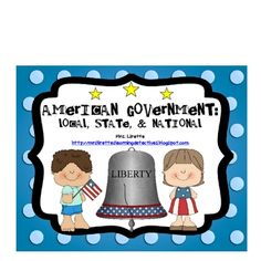 This is an exciting unit on U.S. Government! It is perfect for middle elementary school grades (2nd, 3rd, 4th) and can be adapted for higher or lower grades as well. It covers local, state, and national government. It includes many graphic organizers, art projects/craftivities, materials on national symbols, etc.