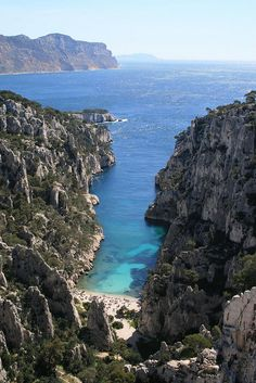 Private Cove in Cassis ~ Cote d'Azur- its name is a writer creation- Stephen Liegeard.