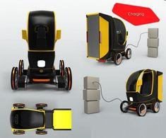 Urban Goods Transportation Vehicle Runs On Electricity, e-Cargo box by Mohammed Ghezel
