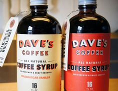 Dave's Coffee Syrup - Probably about the only way you could get me to drink milk these days!