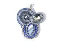 Sparkling Sky - pendant, soutache from betulek by DaWanda.com
