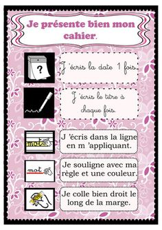 pr 233 sentation du cahier de ppt t 233 l 233 charger French Teaching Resources, Teaching French, Classroom Tools, Classroom Management, Classroom Ideas, Job Chart, Core French, French Classroom, Becoming A Teacher