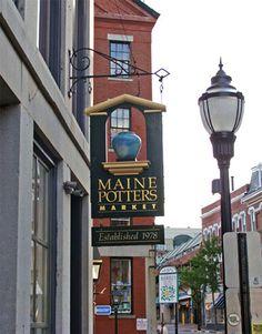 Potters market. Portland, MAINE.