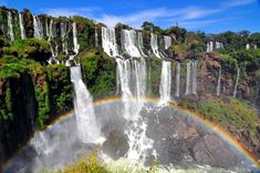 waterfall island paraguay - Google Search