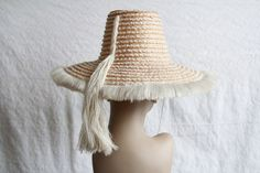 Vintage Straw Hat with Original Box