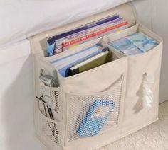 Ótima ideia! Bolsa lateral organizadora para cama.