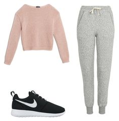 """""""Untitled #18"""" by luciasilvaguerra on Polyvore featuring beauty, Max&Co., Topshop and NIKE"""