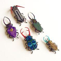 Broche de escarabajo. Broche bordado. insectos joyas. Regalo