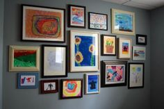 Framing and displaying your kid's own artwork is a great way to personalize your home and to build children's self esteem.