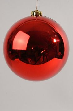 Shatterproof Christmas Red Bauble 140mm - Christmas