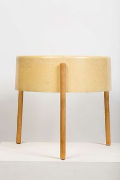 Bill Lam - Fiberglass and Wood Table Lamp, 1950s.