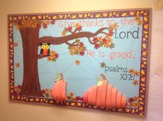 Christian Fall Bulletin Board Ideas ideas about religious bulletin boards… Religious Bulletin Boards, Bible Bulletin Boards, Christian Bulletin Boards, Preschool Bulletin Boards, Bullentin Boards, Bulletin Board Ideas For Church, November Bulletin Boards, Thanksgiving Bulletin Boards, Halloween Bulletin Boards
