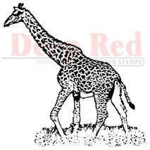 Deep Red Stamps > Giraffes Rubber Stamp - Deep Red Stamps: A Cherry On Top