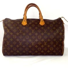 Louis Vuitton Speedy 40 Brown Travel Bag. Save 61% on the Louis Vuitton Speedy 40 Brown Travel Bag! This travel bag is a top 10 member favorite on Tradesy. See how much you can save